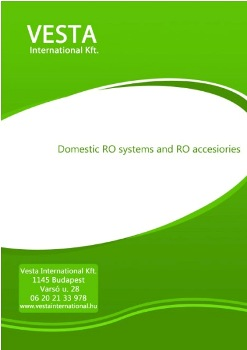 Domestic RO systems and RO accessories